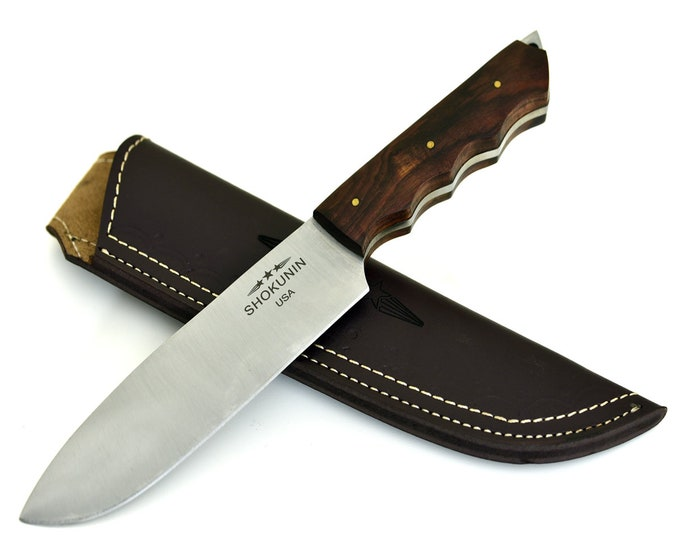 Chef's knife, Aphrodite, D2 Steel / Die Steel / PRO Chef's Knife / Walnut Wood Handle