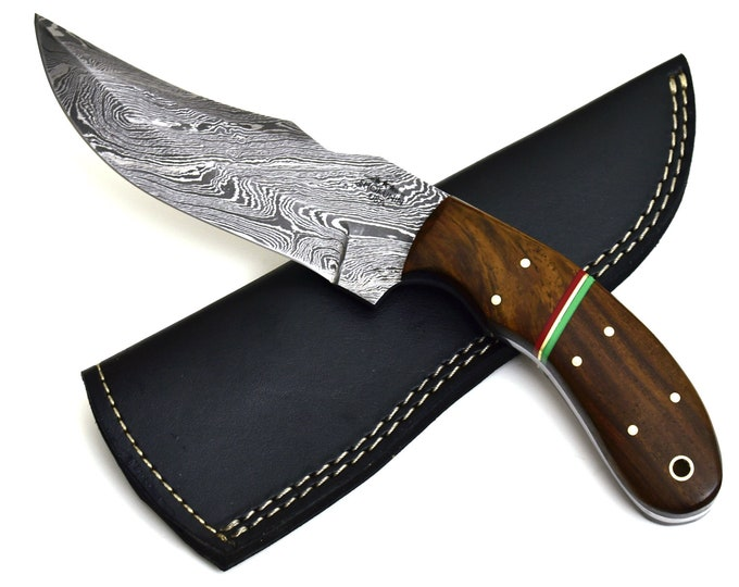 "free Personalized Engraved HAND forged DAMASCUS steel tactical camping utility hunting knife 9.25"" 31-120"