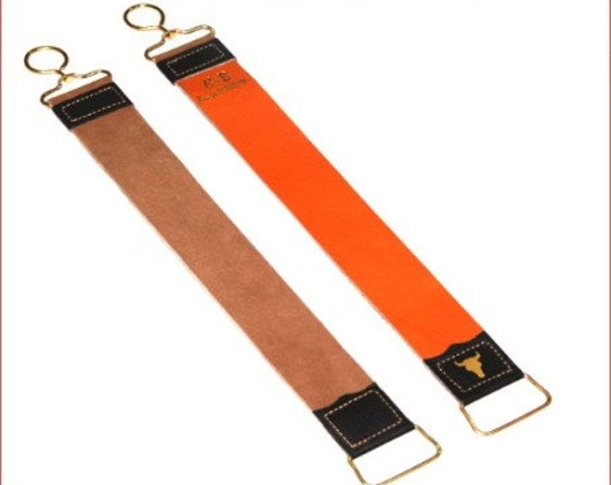 "leather strop, Straight razor strop, knife sharpening strop, double sided leather strop 18"" long, razor strap, leather razor strop, barber"