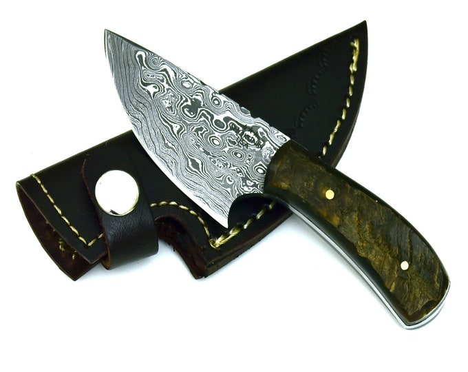 Personalize Hand forged damascus steel hunting knife skinner knife skinning utility knife 30-101 Damascus steel knife damascus blade