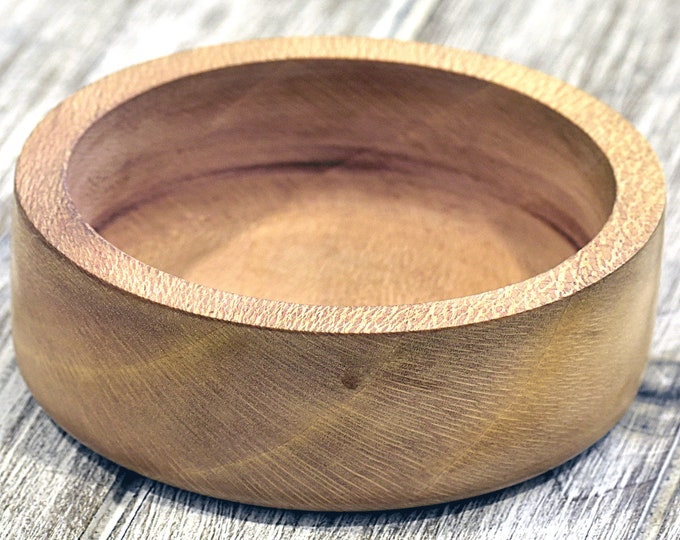 Shaving Bowl. Leopard wood