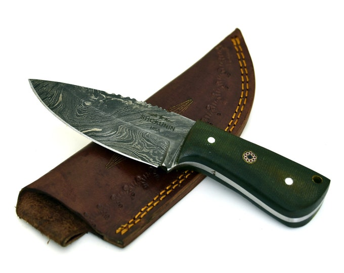 SPEED, Hand forged damascus steel hunting knife tactical camping utility knife 30003