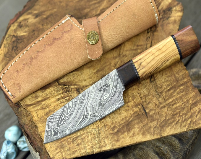 "Personalised, knife, chef's knife, chef knife, DAMASCUS KNIFE,DAMASCUS steel knife utility pairing knife 8.5"" 3490-1 chef"