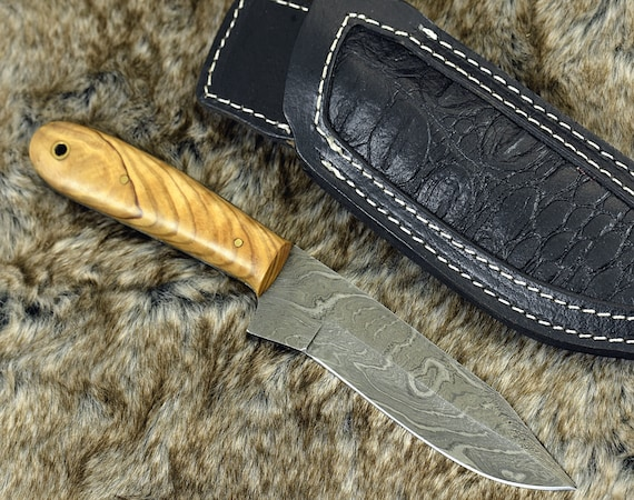 "CUSTOM 9"", HUNTING KNIFE, Damascus Knife, Every Day Carry, Damascus steel Knife, Clip Point Blade, Damascus skinning knife, personalized"