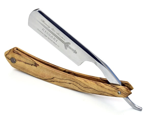 Straight razor, shave ready, Personalized, Engraved, German High Speed Steel Straight Edge Razor Cutthroat For Men & Barber Professional