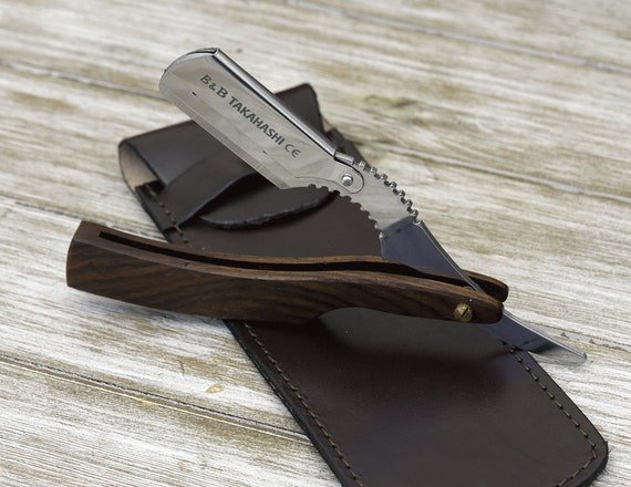 Personalized Straight Razor, Shave Ready, Comes with 200 ultra sharp blade, Professional Barber Razor gift.