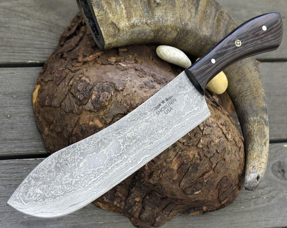 """Personalised, knife, chef's knife DAMASCUS BLADE hand forged DAMASCUS steel knife pro chef knife 12"""" SW22"""