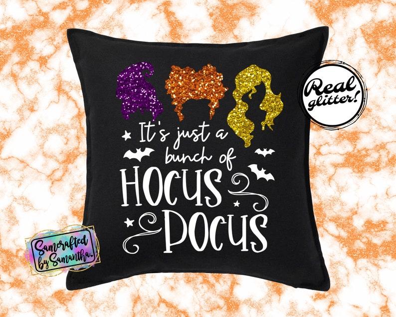 Bunch Of Hocus Pocus Pillow Cover Glitter Pillow Cover Hocus Pocus Home Decor Halloween Pillow Cover Hocus Pocus Pillow Cover