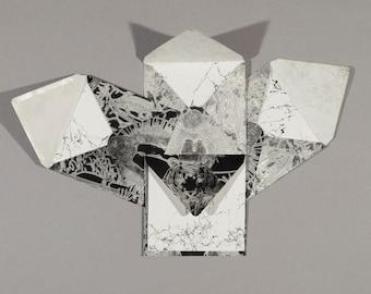 """Set of 5 letterpress """"Card & Envelope"""""""