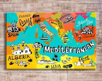Kids Map Of Spain.Dinosaurs World Map World Map For Kids Dinosaurs Map Kids Etsy