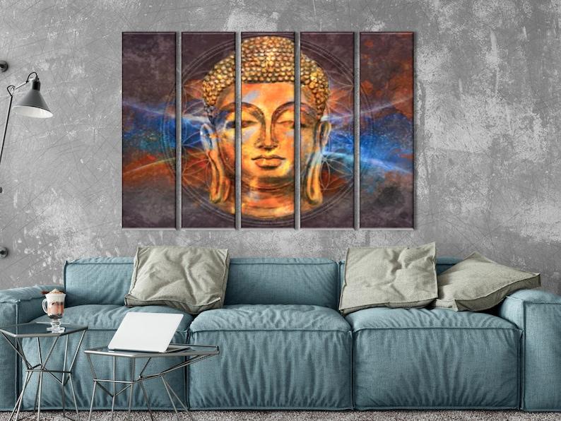 Meditation Art Buddah Wall Decor Buddha Poster Sacral Symbol Print Hindu  Wall Art Buddha  Wall Art Spiritual Art Yoga Studio Decor