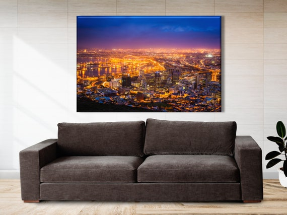 Cape Town Wall Art South Africa Canvas Cape Town Skyline Etsy