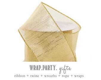 gold ribbon etsy