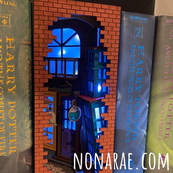 Whimsical Alley Book Nook Insert