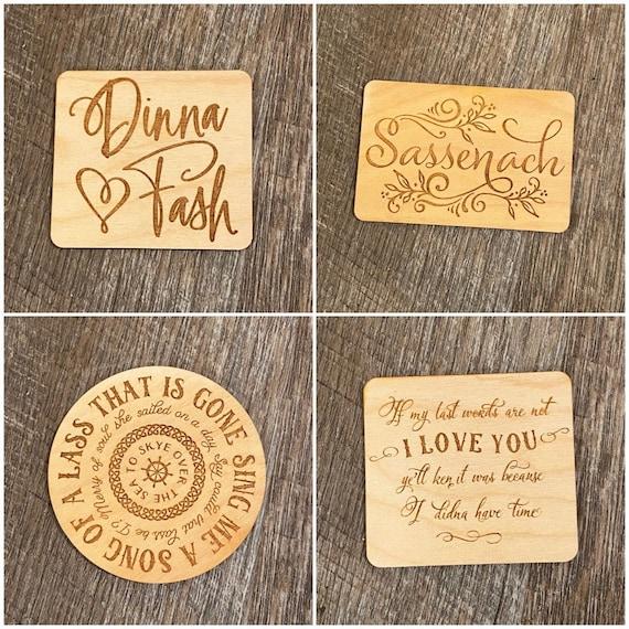 Outlander Wooden Magnet