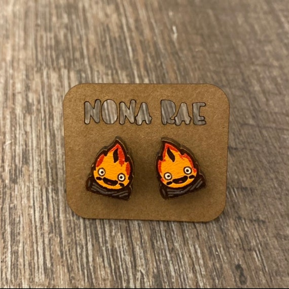 Anime Earrings - laser cut earrings - wooden earrings- geeky earrings