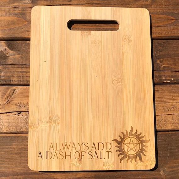 Supernatural Laser Engraved Bamboo Cutting Board