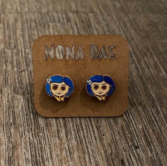 Cartoon character Earrings - Wooden Earrings - Fandom Earrings - Geeky Earrings - Laser Cut Earrings