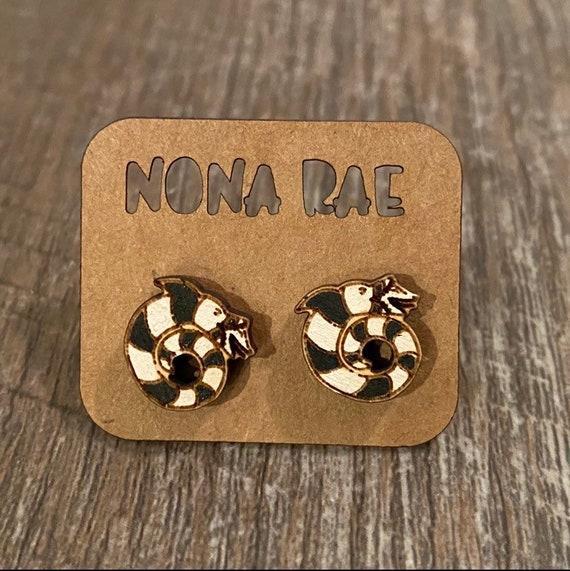 Sandworm Earrings - Wooden Earrings - Fandom Earrings - Geeky Earrings - Laser Cut Earrings