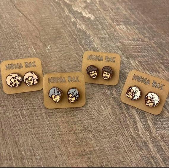 Golden Girls - wooden earrings- TV Show Earrings