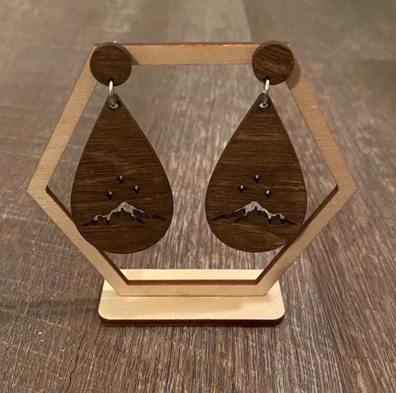 ACOTAR inspired Earrings - Wooden Earrings - Fandom Earrings - Geeky Earrings - Laser Cut Earrings