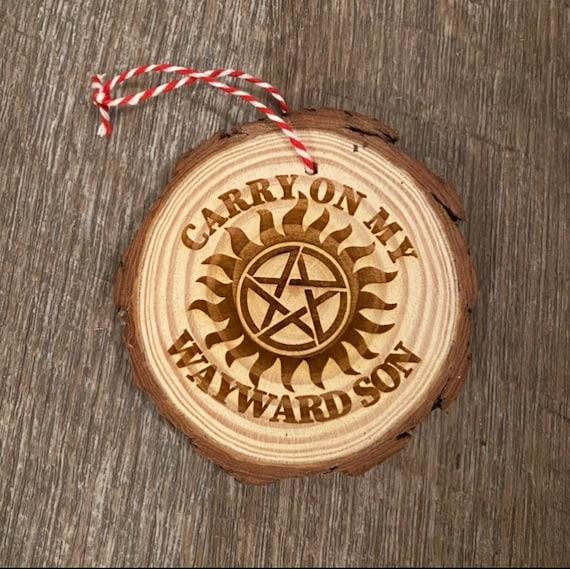 Supernatural Ornament- Wood Slice Ornament
