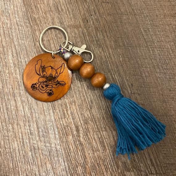 Cartoon Wooden Keychain