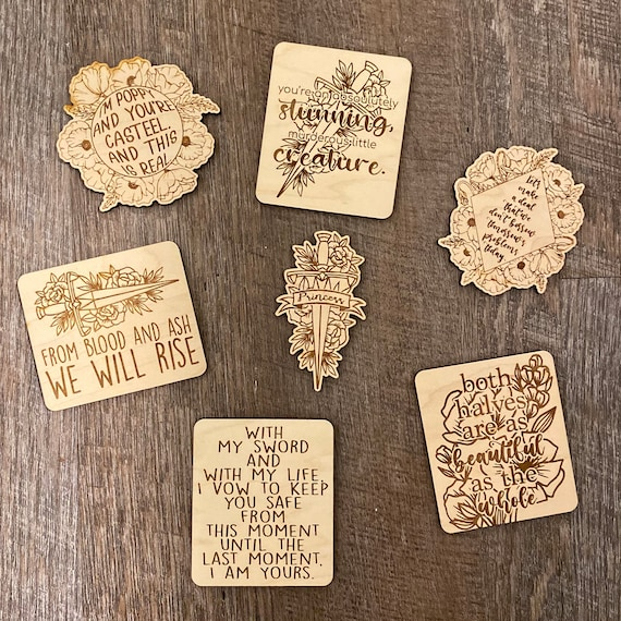 From Blood and Ash Magnet - wooden magnet