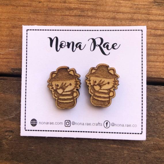 Horror Fandom Wooden Earrings - Laser Cut - Lead and Nickel Free