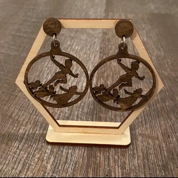 Fairytale Earrings - Wooden Earrings - Fandom Earrings - Geeky Earrings - Laser Cut Earrings