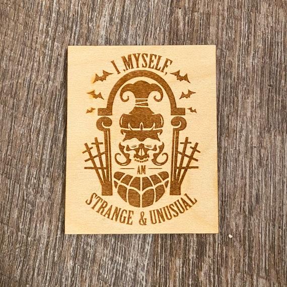 Strange and Unusual Wooden Bookmark