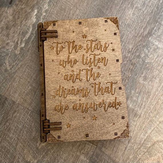 To The Stars - ACOTAR Inspired- laser cut wooden trinket book box
