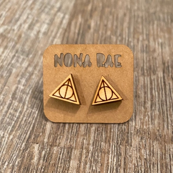 Wooden Wizard Earrings