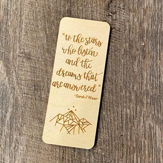 ACOTAR inspired woodmark - wooden bookmark