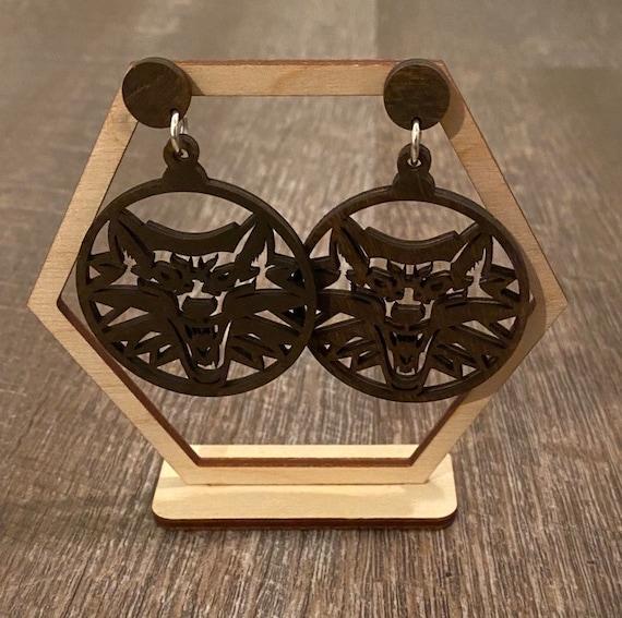 Witcher Earrings - Wooden Earrings - Fandom Earrings - Geeky Earrings - Laser Cut Earrings