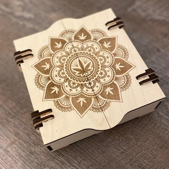 420 Box - Weed Box - Wooden Trinket Box