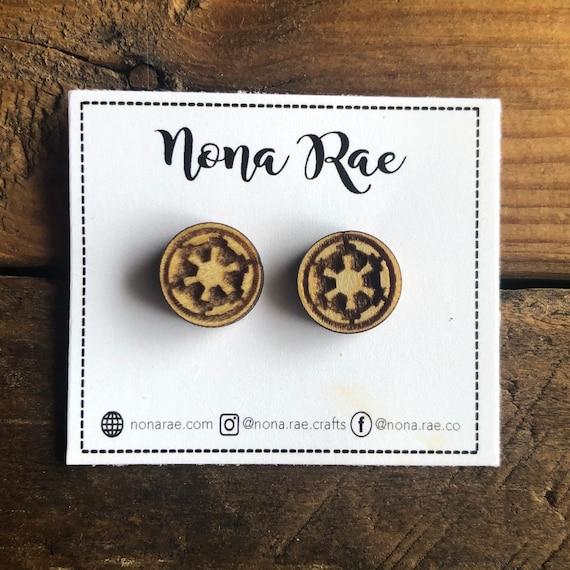 Space Fandom Wooden Earrings - Laser Cut - Lead and Nickel Free