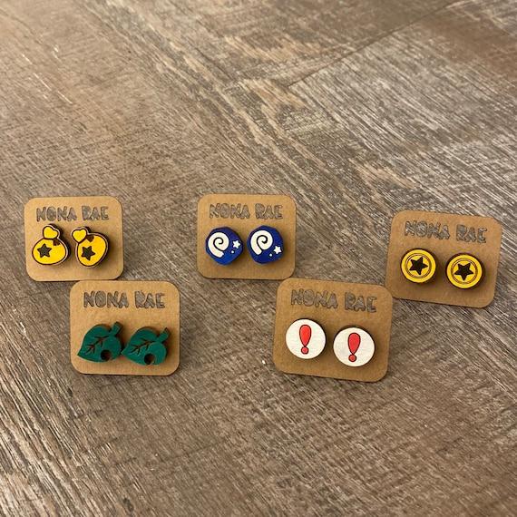 Video Game Earrings - Gamer Earrings -wooden earrings- TV Show Earrings