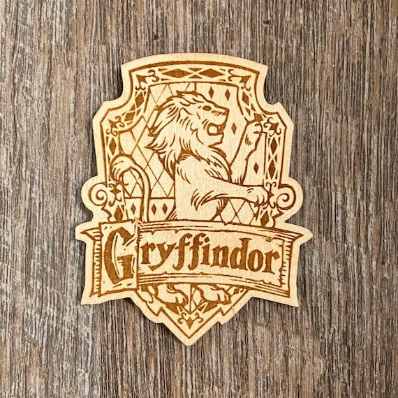 Lion Snake Badger Eagle Crest Wooden Magnet