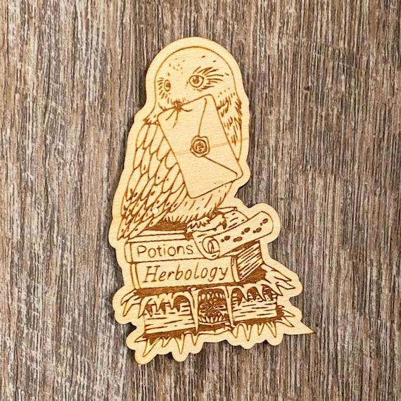 Magic Owl Wooden Magnet