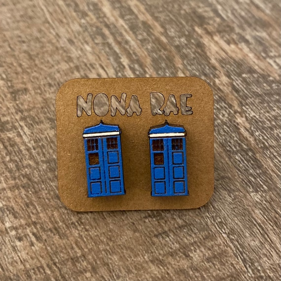 Time traveling Space Wooden Earrings