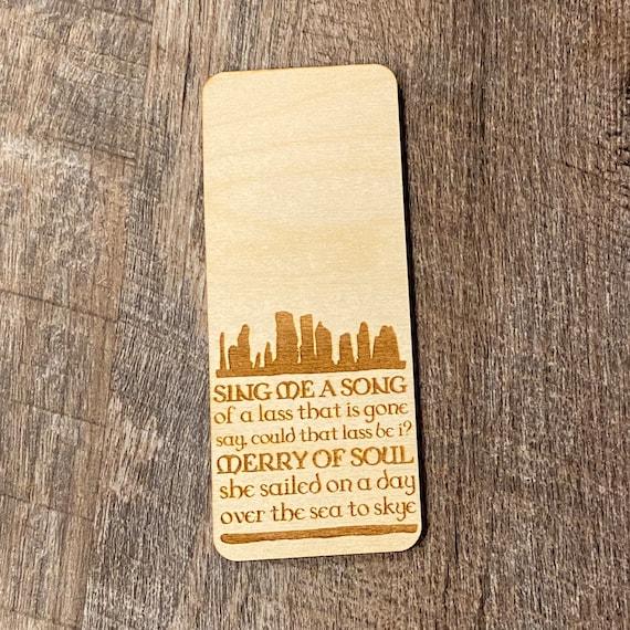 Outlander inspired woodmark - wooden bookmark