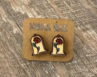 Fandom Wooden Earrings - Geeky Wooden Earrings - Geeky Earrings - Fandom Earrings