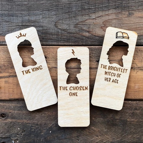 Fandom Wooden Bookmarks