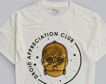 2f792e2e6a Disney Inspired Unisex Star Wars C3PO Droid Appreciation Club T-shirt |  Magical Day Apparel