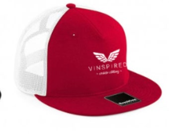 Red & white trucker mesh cap