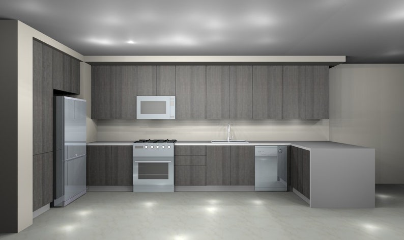 Kitchen Cabinets Remodeling 3d Plans And Designs By European Etsy