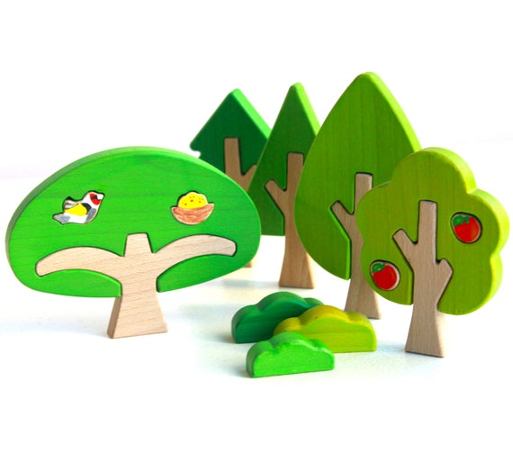 waldorf toy Wooden Puzzle Wood handmade toys- Natural eco friendly Education Set Puzzle Nest Puzzle toy Wood puzzle