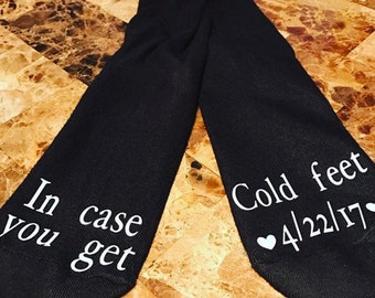 Grooms Gift- Socks- Incase you get cold feet
