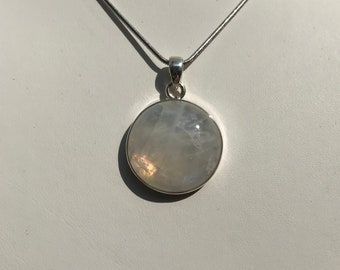 Moonstone Pendant in 925 sterling silver